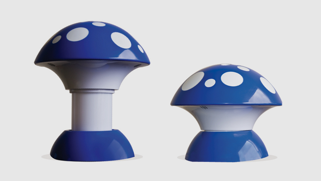 Mushroom Lamps open and closed